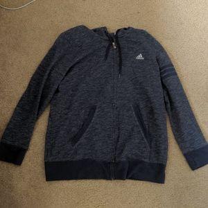 Navy Adidas Zip Up Jacket XL